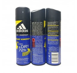 Adidas Body Spray 200ml men, Cool & Dry Sport Energy