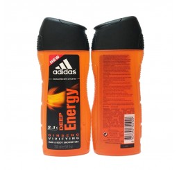 Adidas Shower Gel 250ml men, 2in1 Hair & Body Deep Energy