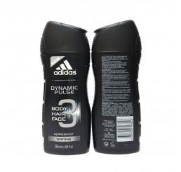 Adidas Shower Gel 250ml men, 3in1 Hair & Body & Face Dynamic Pulse