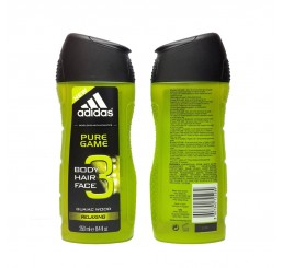 Adidas Shower Gel 250ml men, 3in1 Hair & Body Pure Game