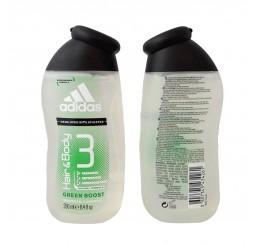 Adidas Shower Gel 250ml men, Hair & Body Green Boost