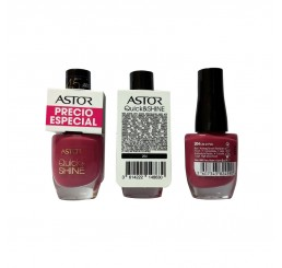 Astor Nail Polish 8ml woman, Quick'N Shine 204 Life in Pink