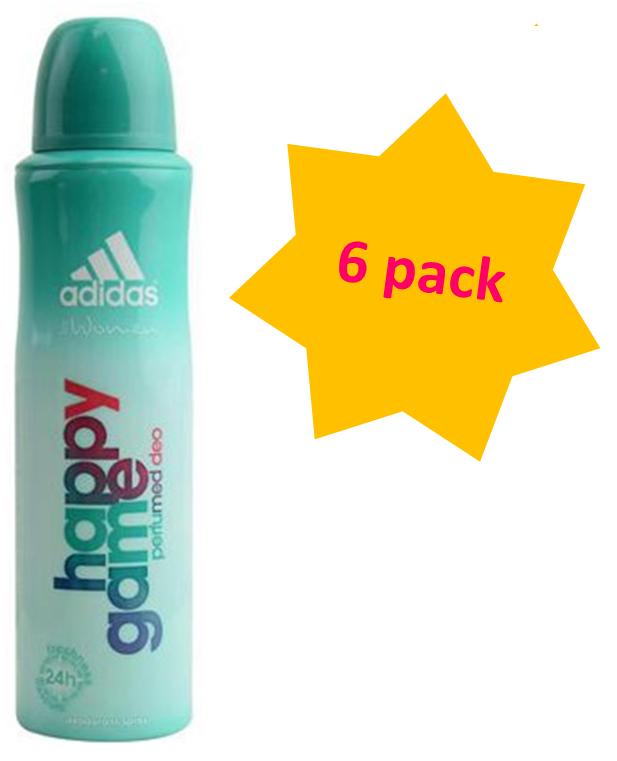 Caña Gallina Estrecho de Bering  Adidas Body Spray 75ml woman, Happy Game - 6 pack   eBay